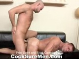 gay porn Tyler And Scott || Scott Campbell Has Had a Rough Day and His Feet Are Killing Him. Tyler Saint Offers Up a Foot Massage to Help Scott Relax and Unwind. No Sooner Than Tyler Is Rubbing Scott's Feet, Scott Is Already Rubbing His Cock Through His Jeans. Tyler Sees This and Decides Maybe It's Not Scott's Feet That Need Attention After All. With Tyler's Mouth Wrapped Firmly Around Scott's Pole, Scott's Day Is Looking a Lot Better Already. Scott Aggressively Eats Tyler's Tasty Hole. He Can't Get Enough of That Sweet Ass and Decides It's Time to Fuck It. Tyler Grits His Teeth as Scott Fucks His Bubble Butt. Tyler Wants to Make Sure Scott's Ass Gets the Attention It Deserves Too and so He Slides His Thick Dick Deep Inside. Scott Moans With Pleasure as Tyler Gives It to Him Hard and Fast From Behind. Scott Flips Over and Stokes His Cock Until He Cums on His Hairy Belly While Still Getting Fucked by Tyler. to Polish Off Scott's Evening Treat, Tyler Gives Him a Mouthful of His Warm Cum. Then They Kiss, Snowballing Tyler's Jiz.