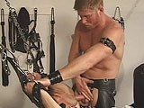 gay porn Irish Master || Hot, Studly, Red Headed Daddy Joe Tosses Jackson Price Into the Sling.<br />