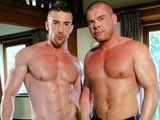 Beefy Hung Muscle Daddy Jake Lewis and Big Muscle Power Bottom Scott Hunter Have an Intense, Sweaty Session In This Seriously Hot Scene, as Scotts Throat and Muscle Butt Both Get Fucked Deep and Hard by Jakes Thick Uncut Meat, Ending In a Sensational Cum Facial.