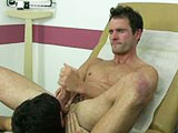 gay porn Nurse Aj Physicaled -  || Lucky AJ gets to start his first day at the clinic after finally graduation and getting his degree. He couldn't wait to start with the famous Dr. Fingerfuck. Sadly Dr. Jizzerman had to relay the news that the doctor had gone on sabbatical. AJ had missed his chance to learn from one of his idols but as he would find out Dr. Jizzerman would be a great mentor to Nurse AJ. Dr. Jizzerman told the young nurse that things around the clinic ran a little differently from what they taught one in college. With those words Dr. Jizzerman began to disrobe and grabbed AJ by the head bringing him towards his cock.