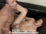 gay porn Brad And Parker || Brad Kalvo and Parker London Just Got Back From a Movie and It Made Parker Super Horny. Brad Asks Parker to Show Him Just How Horny It Made Him, and Parker Promptly Does so by Throating Brad's Delicious Dick. Big Brad Makes Sure He Gets a Taste of Parker Too Before Before Bending Him Over and Stuffing His Tight Asshole. the Look of Pure Bliss on Parker's Face Is Priceless as Brad Continues to Fuck Parker Until He Sprays His Load All Over His Chest. Parker Fingers and Licks Up His Own Cum and Then Begs Brad for More. Brad Deposits a Thick Load Onto Parker's Pubes and Then Licks It Up.