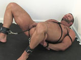 gay porn Stringed Up With A Black Rope || The one and only Nate is all laced up like a piece of ham!