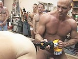 gay porn Drill Of Pleasure || Rich Fucks the Living Hell Out of Aj With a Dildo Attached to a Reciprocating Saw.<br />