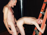 In a sweet twist, now it's the twink's turn to fuck Grandpa in the raw and spread his young seed inside his Daddy's horny manhole. After receiving a hot load of warm spunk, Grandpa 'Punch Atwill' is in a good mood, having a hot twink hole to plow. Atwill pulls open this boy's young buttcheeks and sticks his face deep inside, getting his face all dirty. Soon he's ready to give this youngster a raw hotdog in the behind. Being the bad daddy that he is, he fucks and soon shoots his spunk in that sweet little hole, not even bothering to pull out as he cums in that ass. When does pull out, the gates open and the cumwaters come flooding out. Download the full video in the highest quality at DaddyRaunch.com.