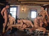 gay porn Horns And Plenty 2, Sc || Gorgeous Studs Max Exe, Christian Herzog, and Mike Colucci Are Out Bailing Hay to the Cows, When Country Muscle Hunks Luciano Prado, Antonio Ferrari, and Nikolai Tinkoff Cross Their Paths. In No Time, All Six Men Have Their Uncut Dicks Out, and and Extract Another Kind of Hot Milk From Each Other! Then Blond Christian Sits on Both Luciano's and Nikolai's Big Dicks At the Same Time, While Antonio and Max Impale Cute Mike Colucci At Both Ends, Until All Six Men Have Fired Off yet Another Load of Spunk!