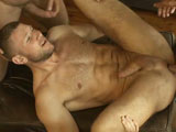 Back at the beach, TitanMen exclusive Franois Sagat peels off his clothes and jumps into the ocean for an al fresco dip. To dry off, he goes for a run along the shore, passing TitanMen exclusives Victor Banda and Dillon Buck on the way. The two lovers pack up their stuff and head towards the campground where they hook up with TitanMen exclusive Diesel Washington. Things get heated up quickly as Dillon watches Diesel push Victors head down on his extra-long cock, growling with delight as Victor gags on every inch of it. As Victor starts sucking on Dillons equally humongous cock, Diesel starts shooting piss all over himself. Diesel and Dillon double-team cock-hungry Victor, whos on his knees trying to service both guys huge cocks with his mouth and throat. Diesel and Dillon then hoist Victor up between them and then all three dump their creamy loads all over Victor. But things are just getting warmed up; they splay Victor over the hood of their truck and take turns eating his furry ass. Before long, the two major studs are towering over him, taking turns stuffing the compact bucks greedy ass. Diesel does some more of his trademark piss-spurting before they throw Victor first onto a surfboard and then the ground where they all shoot another set of hefty loads all over him.