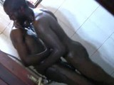 Horny Black African Twink Getting Nasty on the Bathroom