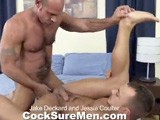 gay porn Jake And Jessie || Jake Deckard Makes His Triumphant Return to Porn After a 3 Year Hiatus. Jake's Clearly Taken Care of Himself During His Time Off as Evidenced by His Ripped, Furry Body. Jessie Colter Is the Lucky Stud to Help Jake Ease His Way Back Into the Business (and His Tight Ass). Jessie Shows Jake What He's Been Missing by Taking His Cock as Deep as He Can Down His Throat . Then It's Jessie Who Gets a Mustache Ride as Jake Demonstrates His Oral Prowess, Swallowing Jessie Down to His Base. a Thorough Ass-tonguing and Fingering Preps Jessie for Jake's Thick Dick. Jessie Can Barely Contain Himself as Jake Pumps Away At His Hungry Hole. Jake's Muscles Flex as Jessie's Eyes Roll Back In His Head From Sheer Ecstasy. Hovering Over Jessie, Jake Unleashes a Huge, Thick, White Cumshot All Over Jessie's Chest. You'd Think He Hasn't Cum In 3 Years! Jake Then Gets Down In Position to Receive a Creamy Facial Which Jessie Is More Than Happy to Give Him. Jake Sucks on Jessie's Cum-covered Cock and Makes Sure to Share It, Snowballing Jessie. Welcome Back Jake Deckard!