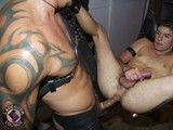 gay porn Leather Stud And Russian Punk || Dmitri Navroska Is Tall and Slender With Dark Hair and Dark Eyes. He's Got a Nice, Youthfully Round Hairy Butt and Just Enough Chest Hair to Show He's a Man's Man. Dmitri Combines Just Enough Boyish Innocence to Charm You, but At the Same Time He's Got a Bit of the Devil In Him, Too. He Didn't Own Any Leather (see What I Mean by Innocence?) so Derrick Supplied Him With a Leather Jock and I Lent Him Some Boots. He Had Lots of Great Facial Expression While Getting Tortured, and Didn't Mind Getting Paddled or Getting Fucked Really Hard In the Sling. His High-pitched Squeals Made It Sound Like He Really Felt It. He's Only Done Live Cam Shows and This Was His First Real Video! (yeah, a Virgin!) It Was Also the First Scene I Shot In My Garage Dungeon, Too, so the Room Was Virgin, Too! I Hesitate to Call Derrick Hanson a Leather Stud Because Is Still Pretty Young, but Compared to the Skinny, Pale Boy, Derrick's Hairy Chest, Bronze Skin, Tattoos and Bulging Musculature Made It Certain That He Was In Charge. We Shot In the Garage for the First Time and I Was Nervous About Lighting Such an Unusual Space, but It Turns Out the Lighting Was Great. a Rough, Industrial Setting Is Much More Conducive to Leather. Dmitri Can Act Like He Is Crying Out In Pain, but He Can Actually Take a Lot of Abuse. We Started With Dmitri's Hands Chained Above His Head While Derrick Came In and Checked Out the Merchandise. the Bound Boy Got Sucked by Hot Leather Man Derrick, Who Looks More and More Like a Tom of Finland Character. We Then Chained Dmitri on His Knees to Suck Off Derrick, Then We Stood Him Up Again and Got His Ass Ready for Fucking by Doing a Bit of Old Fashioned Spanking With a Leather Strap. When His Cute, Hairy Butt Cheeks Got Nice and Red, He Was Ready to Get Thrown Into the Sling. the Sling Turned Out to Be a Great New Sex Toy, and Working In the Garage With 360 Degrees of Camera Angles Was a Pleasure. They Fucked Like Rabbits and the Scene Got Really Intense.