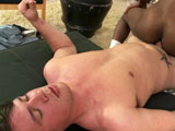 gay porn Gay Black Thug Gets Some Ass P || '''We found this thug in the corner by a sleazy motel. He was definitely up to no good because he was super defensive. But we knew his weakness, the one all thugs have: money. We showed him some bills and next thing we knew he was getting some dick slung on him. He had our white boy's dick some deep down his throat. He claims he never had a dick before, but he took it like a champ. He might not have been gay before, but he definitely is as our white dude busted cum all over his black ass.