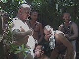 gay porn Trashy Orgy In The Backyard || a Group of Men Gather In a Backyard for Some Kinky Bareback Sex.
