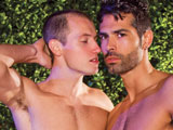 gay porn Do Kyle Quinn || D.O. and Kyle Quinn relax on the terrace kissing and groping, feeling each other's lips and hands explore each other's bodies. Kyle slides D.O.'s pants to down and begins sucking the big man's big cock. The young jock knows he's got a wild man to tame and does his best working his tongue and lips all around D.O.'s stiff staff. With his massive cock rock hard, D.O. is compelled to take charge. He attacks Kyle's ass, rimming his hole. The guys move inside and continue their tryst on top of the bed. D.O. gets behind Kyle and jams his cock up his ass, pumping in and out causing Kyle to cry out and beg for more. Kyle twists himself around, getting on his back and grabbing his dick, he jacks himself off as D.O. continues plowing him. Then D.O. pulls out and lays down, letting Kyle suck him off some more before he finishes himself off and shoots his wad. Kyle licks the cream up then pulls his pud until he squeezes out his load and collapses onto D.O.