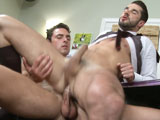 Dean Monroe is a kiss ass, constantly brown nosing anyone in the office who he thinks can get him a raise. Dean is far from a bad employee; actually Dean is one of the top salesmen at the office, vastly improving sales in the short time he has been with the company. The majority of his peers might like Dean a lot better if he wasn't so fake in the office, someone really needs to call him out and teach him a lesson. Jeremy Bilding is the president of the company, a self-made millionaire, a straight to the point man who doesn't beat around the bush. Jeremy and Dean have a meeting today to go over some numbers and considering the ass-kissing that Jeremy has received as of late he fully expects Dean to ask for a raise, considering the recent positive numbers Dean might be right to expect one. While Jeremy is satisfied with Dean's numbers he isn't with his relentless brown nosing that his now causing problems in the office. Today Jeremy is going to teach Dean a lesson and truly show Dean what it means to get a real brown nose