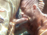 "gay porn Impulse Scene 1 || Jessy Ares, Adam Killian and Shay Michaels show off their underwater talents, sucking each other in the pool as the sun and blue hues dance across their muscular bodies. After some ass eating, Jessy dumps his load in the pool before his buds stroke off on the lawn. Hairy Shay then gets rammed by Jessy while slurping on Adam. The verbal bottom (""Stretch me out... balls deep! Spit on me!"") whips his boner on Jessy's stomach, then punches the top's pec. Adam fucks Shay doggie style, the bottom's jock ass rippling as he gulps Jessy's beast. Adam pins the grunting Shay to the ground, the top's muscular back and ass filling the frame as he reaches over to suck Jessy -- who then gets behind his buds and slides inside for a hot fuck chain, the tan and tattooed Adam grinding between them. Adam gets both of his holes stuffed as Jessy continues to fuck him, the three squirting again as an excited Adam writhes in pleasure."