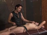 Fetish Slave Gabriel Blue Gets Let Out of His Cage for a Little Bondage and Whipping.