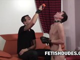 Dilf Fetish Dude Derrick Paul Teaches His New Twink Pet Skyler Bleu How to Be an Obedient Puppy and Follow His Orders.