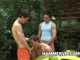 Twink Threeway Bareback || 