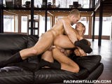 gay porn Tom Fucks Angelo || Businessman Tom Wolfe Has Cleared His Calendar for a Morning Tryst With Hunky Associate Angelo Marconi. the Two Get Down to Business With Angelo Nibbling Tom's Tits and Kissing His Hairy Torso. He Then Reaches Inside the Big Guy's Trousers to Free His Cock and Sucks It All the Way Down, Almost Gagging on Its Enormity. Before Long, Tom Is Greedily Rimming Angelo's Hot Tight Hole. Having Prepped It Sufficiently, Tom Is Up for a Bigger Merger and He Fucks Angelo's Ass, Working His Thick Cock In Harder With Every Forceful Thrust. They Twist Into Different Positions and Continue Screwing Until Angelo Blasts His Load Across His Abs. Tom Withdraws and Seals the Deal Shooting His Load Up Across His Exhausted Partner's Pecs.