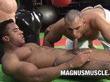 Beefy Black Stud Douglas Masters Always Gets Hit on by Guys for His Bodybuilder Physique but He's Not One to Turn Down Some Hot Sex With Another Muscle Dude!