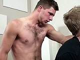 Walker Continues to Pound Away Until He Can't Hold Back. Walker Pulls Out and Hovers Over Aaron's Mouth. He Blows a Hot Load All Over Aaron's Mouth, Tongue &amp; Face. See the Full Video Only At Fuckoffguys<br />