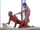 gay porn Kirk Cummings 2 || Erotica yoga ends in the bedroom.