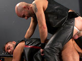 gay porn Dan And Ale || Put two, leather clad sex pigs in a dungeon together ... and stand back. I've never met such sexy, cock pigs as Ale and Dan.