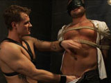 gay porn Colby Jansen And Trent || Colby Jansen finds himself tied up tight in the dungeon of Trent Diesel. Trent wastes no time ripping his clothes off and beating him. He then feeds him his cock and clamps Colby's nipples to the floor. Trent gets over-confident in his bondage, however, and Colby is able to break free while being flogged. With Trent tied up Colby gets in a revenge flog before stretching him out and arching him off the stock table by his balls. Colby throws Trent on the ground and fucks a load out of the exhausted former Dom.