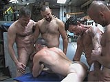 gay porn Stuck In The Middle || a Horny Bottom Gets Stuck In the Middle of Some Hot Muscle Tops.