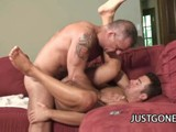 Horny Dilf John Marcus Pulls Out His Hard Cock to Fuck His Friend Dominik Rider