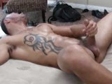 Muscle Latin Top With a Nice Thick Uncut Dicks Jerks His Meat and Shoots a Nice Massive Load