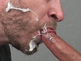 Kilo Lang Feeds Aaron French His Big Cock and Cum. Watch the Entire Video Only At Suckoffguys<br />