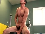 gay porn Mario Romo || Here's a solo session you won't soon forget. He's in the gym, pumping up and blowing off some much built up steam. Join him as he gets a nice swell going in every muscle in his body, including his fat cock! Mario keeps it very spicy, speaking in Spanish while he pleasures himself. His passion and intensity jumps right out of the scene. But be warned, this amazing hunk is muy caliente! Enjoy!