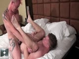 gay porn Shane Stone And Butch Bloom || The scene opens with Shane and Butch passionately kissing as Butch slides down onto Shanes cock. He sucks and swallows Shanes shaft as he uses his mouth and tongue all over his shaved crotch and meaty nuts. The sex steps into high gear when Shane spreads Butchs ass cheeks and buries his face deep into his ass crack. Shane eats and rims Butchs furyy butt as he gets his hole ready for his raw tool. The sex intensifies when Shane mounts Butch and starts fucking him bareback. Shane throws Butchs legs over his shoulders and pile drives his raw cock deep and hard into his willing hole. Butch shows us what a greedy and accommodating ass he has as he straddles Shane and rides him cowboy style. Shane flips Butch back onto his back as he straddles his sloppy butthole one last time. Shane fucks him fast and furious then shoots his nut deep in his hole, breeding Butch with a full load. Butch jerks off as he feels Shanes warm goo shoot inside him then sprays his wad all over his face and pecs. The scenes ends as Shane and Butch kiss and embrace as the milky combination of sweat spit and cum stream down both of their chests.