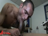 gay porn Gio Cruz And Issac Jones || This is an encounter with a little difference. It's a cock worshiper's delight! Gio Cruz beats and Issac Jones at a game of cards and the overalls are soon unzipped to get willing cocks out at the ready. Getting hard and excited with big snogs, their big rods are soon receiving big, big blow jobs. These two lads are well up for a marathon cock rubbing session, so after a they pleasure each other orally, the lube comes out for a marathon cock rubbing, tongue eating extravaganza; best to cum is the spunk play the have in the finale with the hot gooey sperm getting rubbed in all over Issac's lean, to die for body. With magnificent cocks like theirs, and their highly charged chemistry, this makes an explosive scene to jerk off to, imagining your own cock are in the highly skilled hands of these prime examples of Alphamale dream boats.