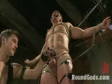 gay porn Marc Dylan And Master  || Muscle stud Marc Dylan is tied up, beaten, electrified and fucked by Master Avery.