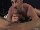 gay porn Dominic Pacifico And Rich Kell || Rich Kelly gives Dominic Pacifico's massive tool a good suck