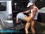 Hitchhiker Troy Finds Himself In Chad's Suv In the Aussie Outback. Little Does Troy Know That Chad Has Plans to Spread His Legs and Fuck Him Raw In the Aussie Bush. It's a Hot Outdoor Scene With Lots of Hardcore Raw Fucking. Check These Guys Out and Many More At Bentleyrace