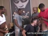 Gay Porn from GayBlackBangers - Five-Black-Cocks-Fucking-A-Guy