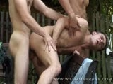 Willam Higgins is introducing July 2010 Wank Party. This features 5 great guys, Pavel Modelon, Marek Novak, Ondrej Jirasek, Karel Vlastik and Lukas Novy. We did the filming on location, on what was a glorious summer's day. At least the guys had some water nearby to keep them cool. It was much needed as they certainly had a lot of fun during filming, as you can see. This was a very good shoot indeed. This was one of the nicer days out on location. It was nice and cool, and I dont know how we did it, but I found a spot with no chiggers. The day before, Aida and I were out walking while Miro was doing glamor stills, and I found a little about 750 meters away. The guys went after the shoot and took a very nice dip. Czechs dont mind nudity at swimming holes. You find people sunning themselves nude practically everywhere you go during the summer months.