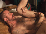 gay porn Barebackin Dragon || Daddy DeAngelo is on the road again and when he returns to his room from a swim in the pool, he finds Dragon waiting in bed. Tony indulges his cub of the day by feeding him plenty of daddy cock before plunging his curvy 8 incher deep into Dragon's furry butt hole. Dragon worships every inch of Tony from his furry pecs down to his hairy quads as he pleads for more. They both explode with massive loads. First Dragon who spews all over his furry chest and belly and then Daddy T who first pumps man fluid into Dragon's hole and then pulls out to spray Dragon with his hose. But then in typical DeAngelo fashion, Tony pushes his cock back into Dragon and continues to breed Dragon's hole.