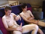 gay porn Two Horny Boys || These Two Horny Boys Are Spending the Morning Watching a Porno. They Both Drop Trou and Pull Their Cocks Out. Whacking Away Christian Keeps Looking Over At Jayden's Cock, Clearly Wanting to Take Matters Into His Own Hands. so That's What He Does. Without Flinching Jayden Looks Down At His Cock Being Handled for the First Time by Another Guy. Taking Off All Their Clothes, Jayden Kneels Up on the Couch and Wants More Attention From Christian, Who Is More Than Happy to Oblige. Christian Actually Spends More Time With His Hand on Jayden's Cock Than He Does on His Own. With a Sly Look to Us, Christian Points His Cock Towards Himself and Shoots a Nice Load All Over His Torso. but With Jayden Taking His Time Wanking It, Christian Offers to Help. With a Big Smile on His Face Christian Takes a Firm Hold of Jayden's Dick and Wanks It for All It's Worth. as Christian Keeps Jacking Him Off, Jayden Isn't Able to Hold Back Any Longer and Shoots a Huge Load Onto His Abs.<br />