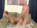 gay porn Mitch And Phillip || Sexy Blond Stud Phillip Aubrey Is Here to Play With One of the Sexiest Men In Porn, Mitch Vaughn. Phillip Has a Tanned, Toned Body and a Deep, Booming Voice. It's Clear That Mitch Is 'excited' to Fuck Around With Phillip. the Two Studs Exchange Blow Jobs, Getting Each Other Rock Hard. Phillip Gets on His Knees and Spreads for Mitch to Taste His Tight Hole. After a Thorough Tongue Bath Mitch Is Ready to Fuck, and That's Just What He Does. Phillip's Ass Gobbles Up All of Mitch In Doggie and Missionary Positions. but Phillip Wants to Top Too. Mitch Jumps on His Cock and Rides Him Cowboy Style. Mitch's Muscles Glisten With Sweat, and Then With Cum as Phillip Shoots His Load All Over Him. Phillip Cleans Up His Mess, Licking Up His Sweet Juice. Mitch Jerks Out a Huge Load All Over Himself. Phillip Feeds Him Some and Then They Kiss Passionately.
