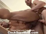 gay porn Rober And Cole || Robert Axel and Cole Streets Are Lending a Hand In Our Shipping Department. Robert Asks Cole If He's Ever Worked With Jake Cruise. Cole Says Yes and Shows Robert the Dvd of His Servicing Scene With Jake. Seeing Cole Naked, Robert Immediately Says He Wants a Piece of That. Robert Drops to His Knees and Cole Gives Him a Piece Alright; All the Way Down His Throat! When Robert's Pants Come Down, Cole Attacks His Piece of Meat Like His Life Depends on It. Cole Eats Robert Out and Then Plants His Cock Firmly In Robert's Ass. Robert Swats a Pile of Dvd's to the Floor as He Braces Himself From Cole's Hard Fucking. After Getting It From Behind, Robert Lays Back on the Table for Cole to Give Him Every Inch. the Guys Flip, and Now It's Robert Who's Plowing Cole's Tight Hole With His Thick Pipe. Robert Continues to Fuck Away Until He Sprays His Load Onto Cole's Rock Hard Cock. Cole Jerks Out a Big Load of His Own Onto His Furry Stomach. Fun In the Workplace!