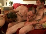 gay porn Mature Men Fucking || Three of My Favorite Dudes Share Some Good Times. I Like All of These Guys Because They Are Men. Granted, They Are Men Who Have Sex With Other Men, but They Are as Male as They Can Be, Which Is Exactly What I Find Exciting.<br />