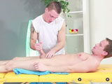Ivan Rowdy agreed to get a nice deep massage from his buddy John Parker but had no idea that John had other plans. While massaging his back Johns hand found their way to Ivans boy but and before you knew it he was fingering his ass deep! Ivan knew this was cue to turn over and start sucking his cock so he could get his boy hole barebacked. John didnt waste much more time massaging and next thing he knew Ivan was riding his fat uncut cock like a good little boy. Barebacking that boy hole was so sweet he just knew he had to fuck him in a few more positions before he shot his hot jizz!