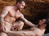 gay porn Ben Brown And Scott Ca || Macho lovers Ben Brown and Scott Carter are all about style, and ravaging each others bodies amongst the crashing waves is whats in store. Ben straddles and mounts Scotts hulking and muscular physique, who gently and playfully fingers Bens mouth and plays with his lips. As the water splashes around them, Ben and Scott grind their hard bodies against one another, getting both of the muscled hunks hard and excited that they start sucking the erect cocks theyre showing off for each other. These are real men in love, and both are attentive to one anothers needs. They swallow deep with wet and excited throats before Ben turns Scott around and eats out his asshole. Scott is a towering wall of muscle, but hes a total and submissive bottom, and while the setting sun glows on them, Ben penetrates him from behind in a series of different positions -- on his back, from the side, on all fours. Ben gyrates his pelvis and thrust his hips and he deeply fucks Scott, who takes all of it with ecstasy. Overlooking the ocean, these two hunks reach their climax, spraying each other with their greatest testaments of love!