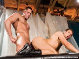 gay porn Erik Rhodes And Spencer Fox || Hung Hotties Erik and Spencer Crash Into Each Other Kissing and Groping Like the Hungry Sex Fiends They Are. Spencer Falls to His Knees to Guzzle Erik's Hard Big One Before Erik Hoists His Partner Onto the Table and Begins to Suck His Dick. It's Not Long Before Erik Screws Spencer Fast and Hard Before He Unloads Onto His Rump and Lets Spencer Jerk Off All Over His Face. <br />