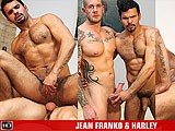 gay porn Jean Franko Harley Eve || Sexy South American Top Guy Jean Franko Can't Wait to Offer Up His Magnificent Arse to Muscle Mountain Harley Everett, and Jean's Fuck Hole Takes a Real Battering.
