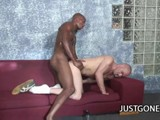 Gay Porn from JustGoneGay - White-Dude-Worships-Black-Dick