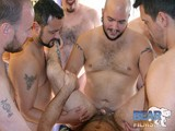 Eight Local Guys Manage to Take Turns Breeding and Seeding Traces' Furry Manhole With Their Loads In the Afternoon Atlanta Sun. the Boys Are Ready to Give a Hotlanta Welcome to Trace's Horny Ass. Each Guy Takes a Turn Grunting and Sucking, Plowing and Drooling, Jerking and Cumming In Trace's Fuck Hole. Each Guy Manages to Add Their Loads to This Already Greedy Bottom. Watch In the End How Trace Drools Their Spunk Out of His Hole Followed by a Cum Shot of His Own on That Furry Belly of His.
